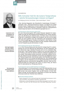 SOS Artikel in Praxis Implantologie, Juni 2015